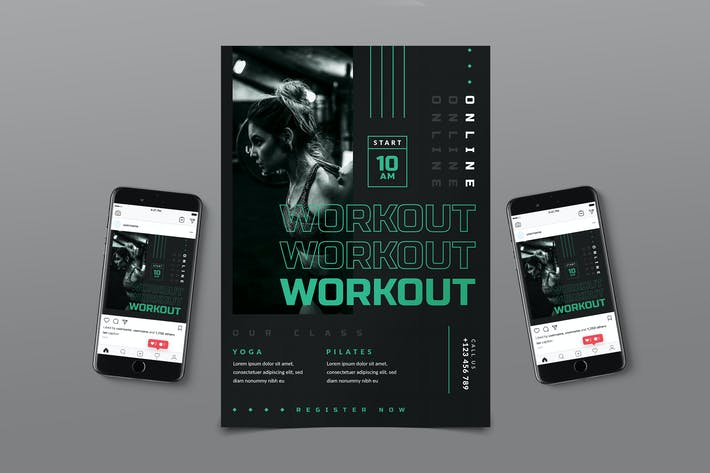 Thumbnail for Online Workout Flyer
