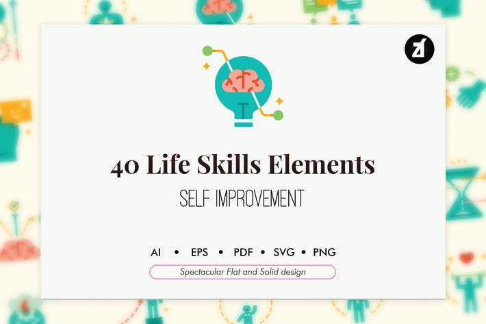 Thumbnail for 40 Life skills elements