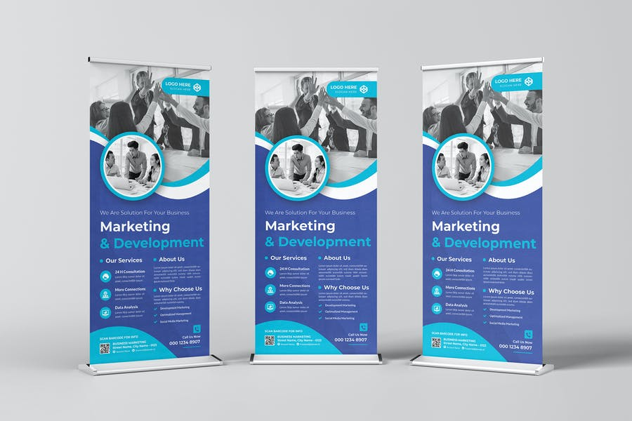 Business Marketing Agency Roll-up Banner