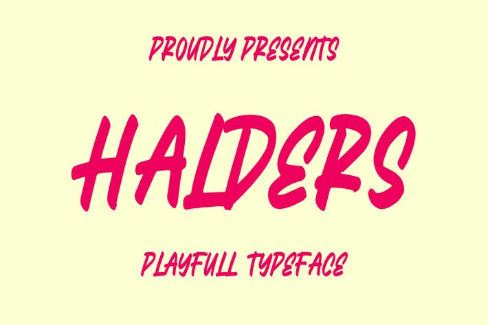 Thumbnail for Halders - Playfull Typeface