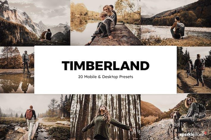 20 Timberland Lightroom Presets & LUTs