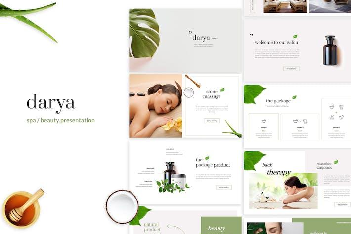 Дарья - Спа/Красота Google Слайды Шаблон