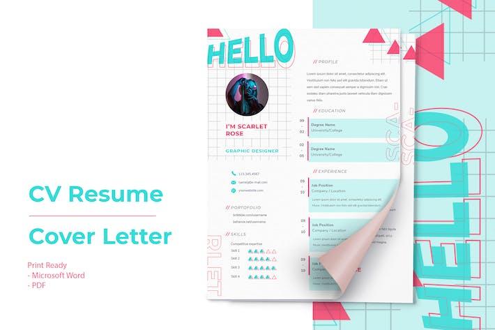 Scarlett Rose - CV Resume Template