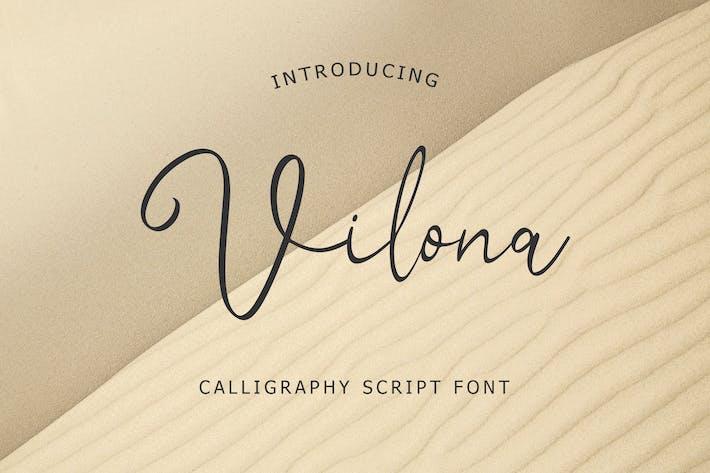 Thumbnail for Police de script de calligraphie Vilona