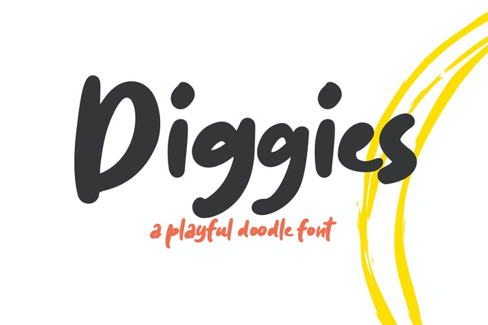 Thumbnail for Diggies - A Playful Font