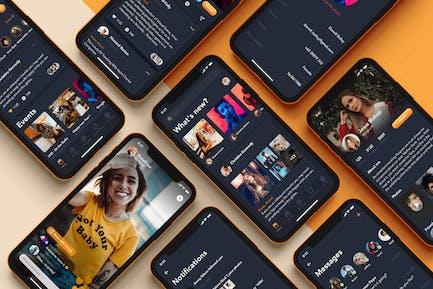 Appli sociale pour la Vidéo en streaming en direct
