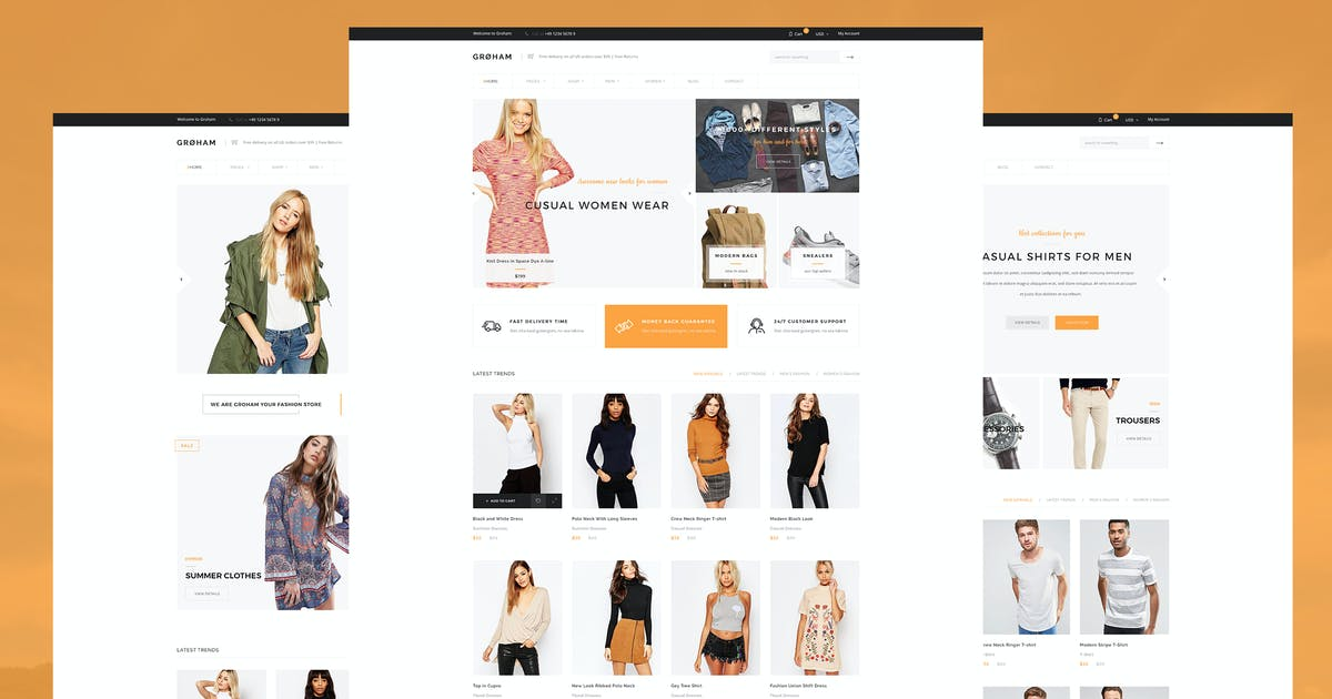 Download Groham - Fashion eCommerce HTML template by KL-Webmedia