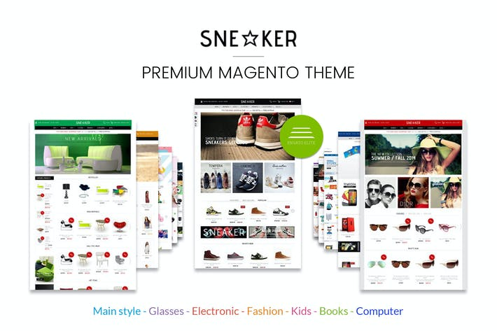Thumbnail for Multi-usage Magento Thème - Sneakers Store
