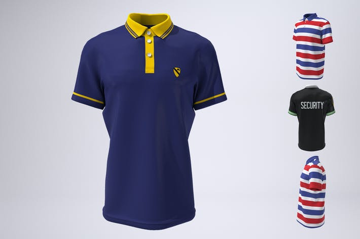 Thumbnail for Polo Shirt, Tennis or Golf Shirt Mock-Up