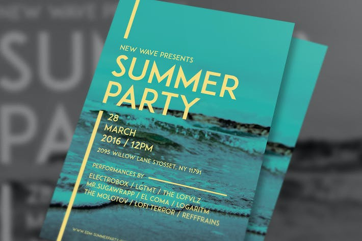 Cover Image For Simple Summer Party Flyer