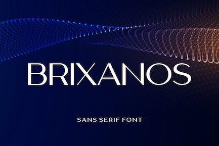 Brixanos Sans Con serifa - Fuente moderna