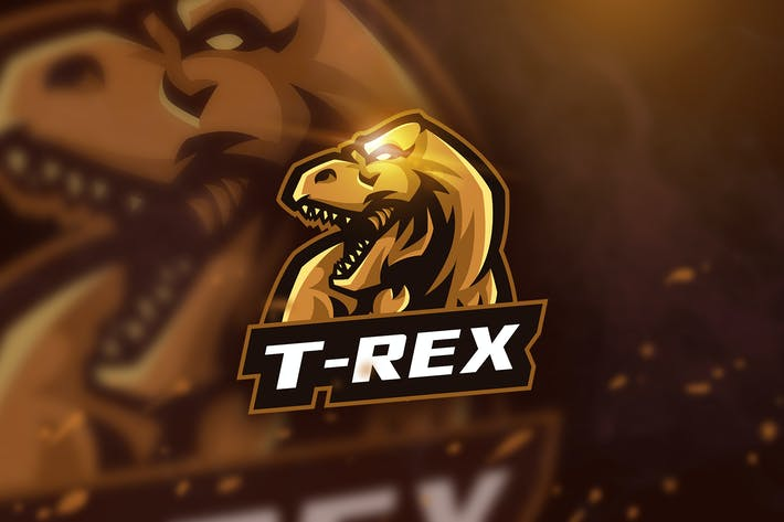 Thumbnail for T-Rex - Mascot & Esport Logo