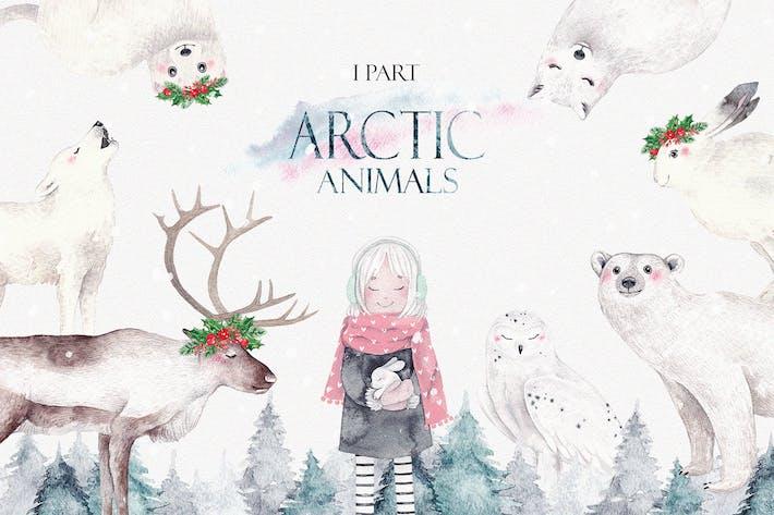 Thumbnail for ARCTIC ANIMALS watercolor set PART 1