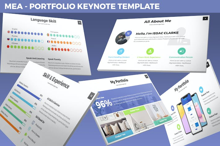 Thumbnail for Mea - Portfolio Keynote Template