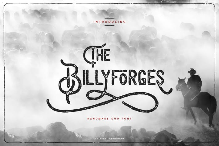 Thumbnail for Billyforges - Duo Fonts