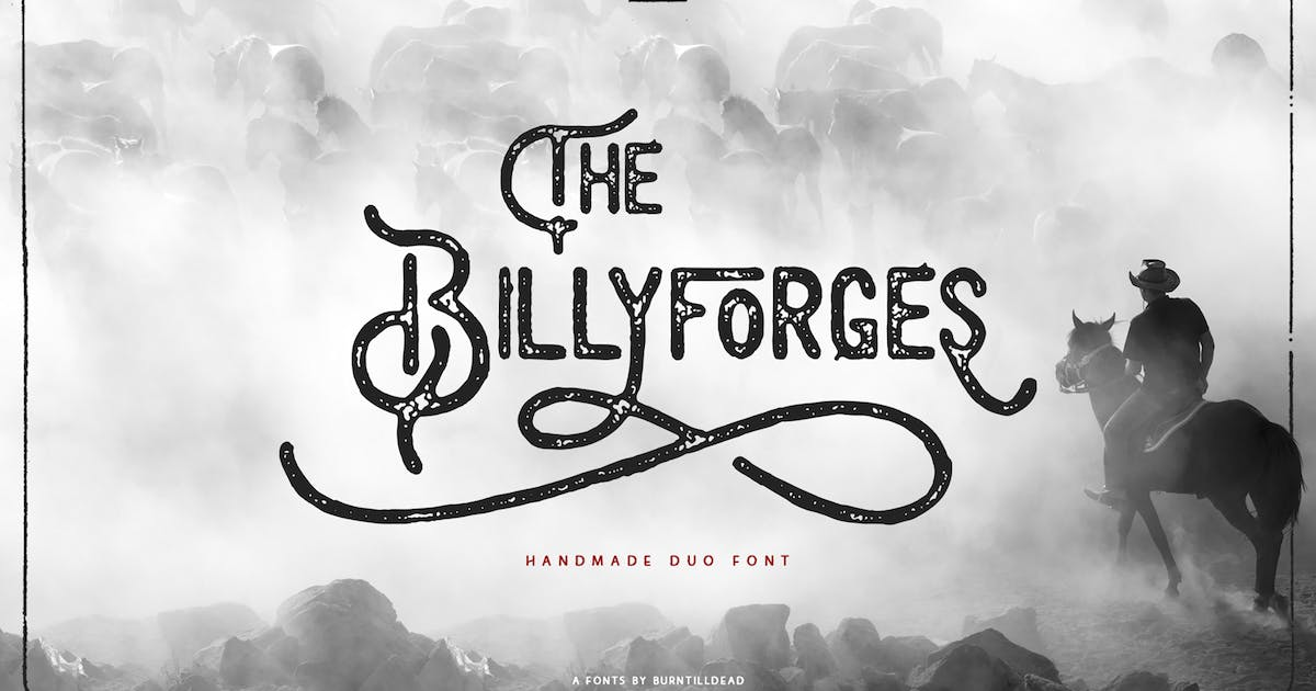 Download Billyforges - Duo Fonts by Eric_Burntilldead