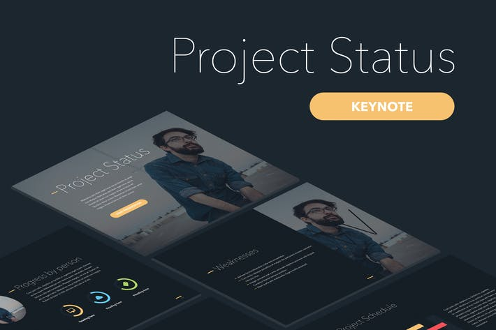 Thumbnail for Project Status Keynote Template