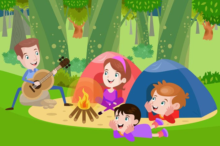 Thumbnail for Camping With Family - Activity Illustration