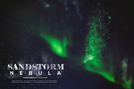 Abstrakte Sandsturm-Nebula-Hintergründe