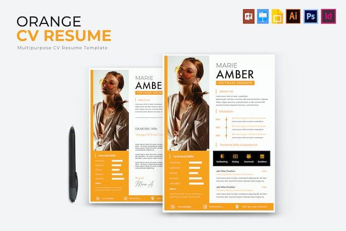 Thumbnail for Orange   CV & Resume Template