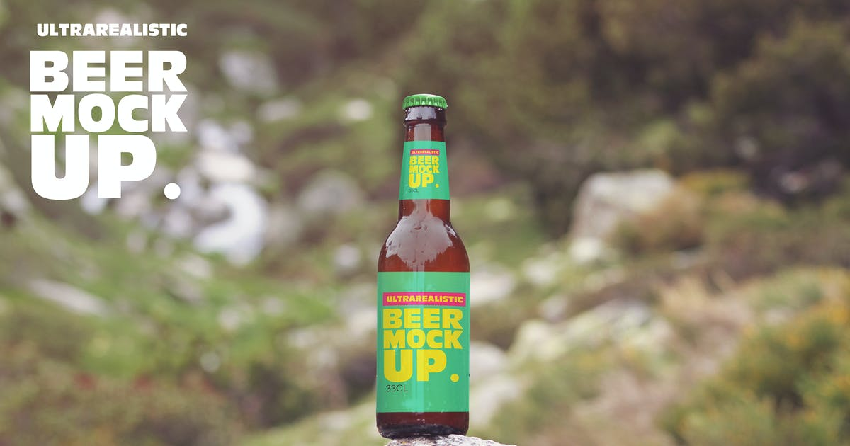 Download Beer in the Stone Mockup by SmartDesigns_eu