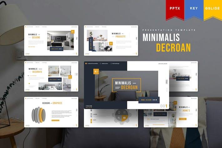 Thumbnail for Minimalist Decroan | Powerpoint, Key, Google Slide