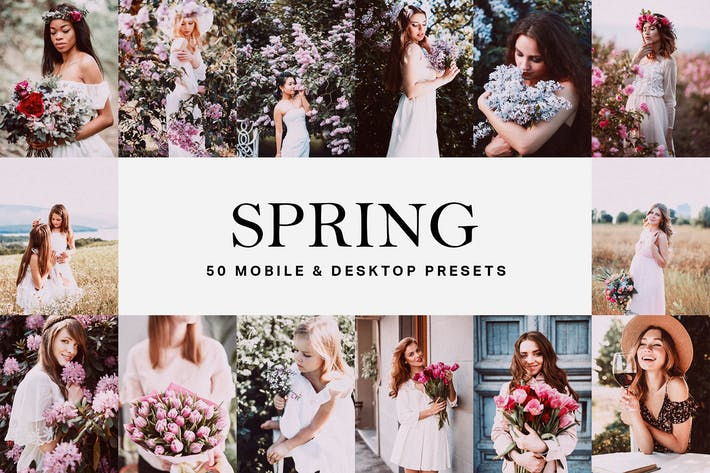 Thumbnail for 50 Spring Lightroom Presets and LUTs