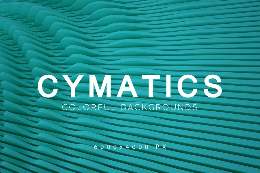 Cymatics Colorful Backgrounds