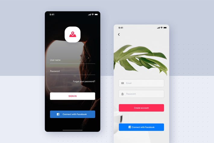 Thumbnail for Sign Up Form for mobile Interface template