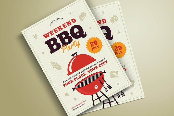 Cover Image For Flyer de fête pour barbecue