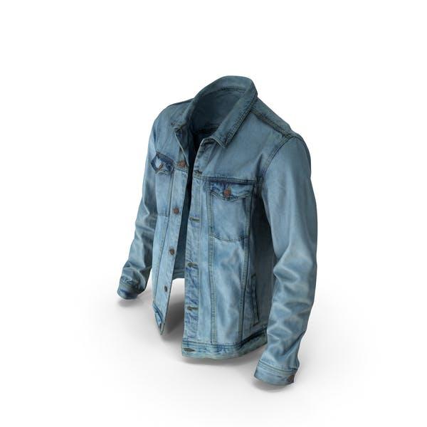 Мужская Жан куртка синий