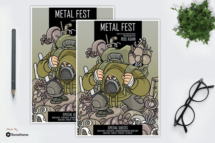 Thumbnail for Metal Music Festival Flyer