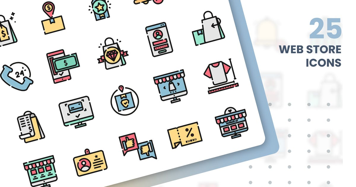 Download Web Store Icons Set by grafikonteam