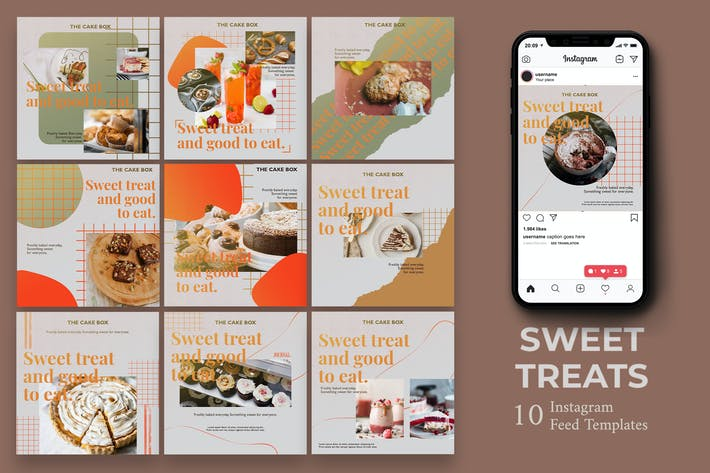 Thumbnail for Sweet Treats - Food  Instagram Post