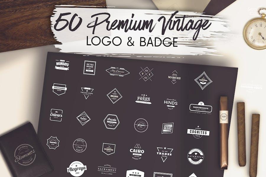 50 Premium Vintage Logo & Badge
