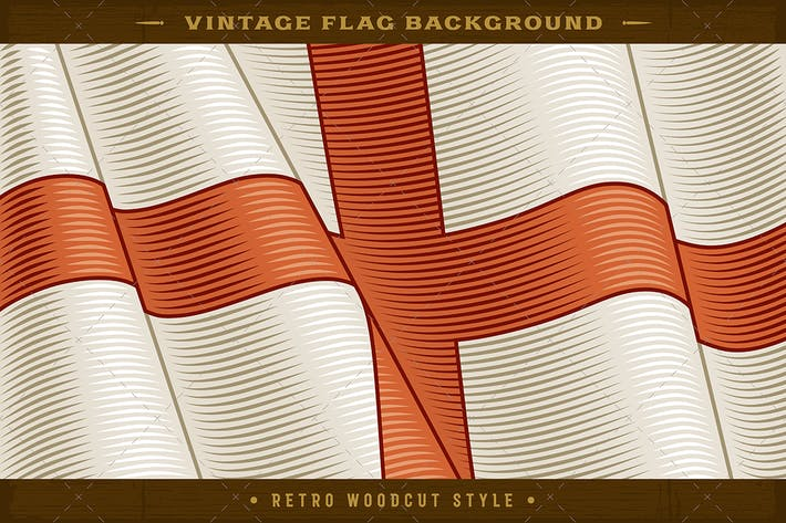 Thumbnail for Vintage Flag Of England. Close-up Background