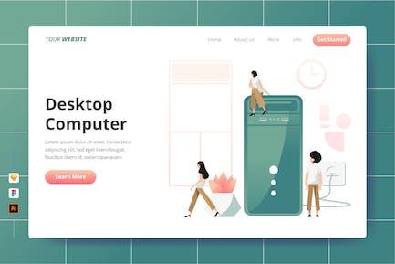 Desktop-Computer - Zielseite