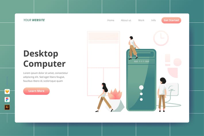 Thumbnail for Desktop Computer - Landing Page