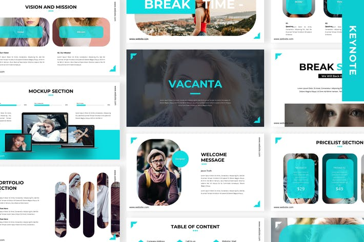 Thumbnail for Vacanta - Business Keynote Template