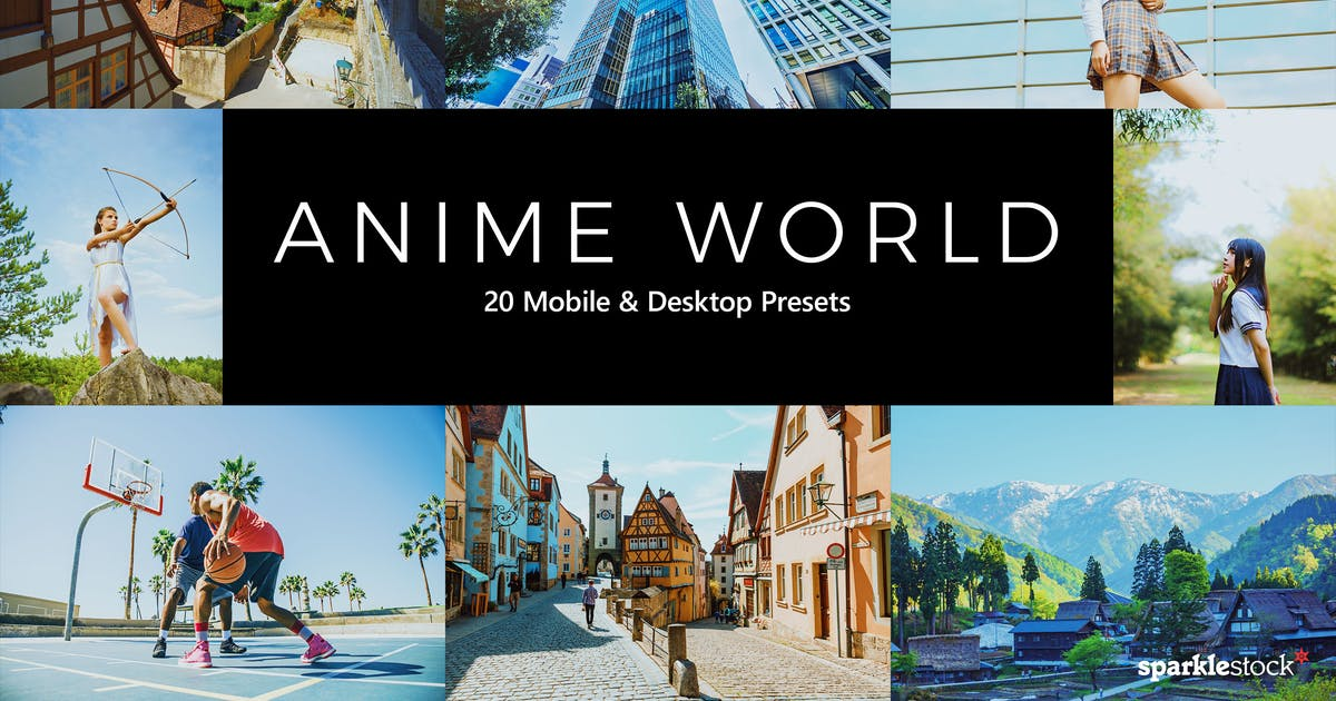 Download 20 Anime World Lightroom Presets & LUTs by sparklestock
