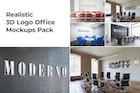 3D Logo Office Mockups Pack vol.1