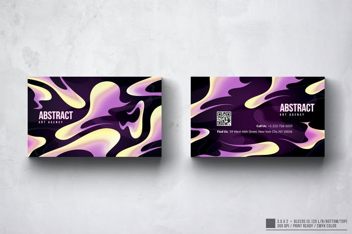 Thumbnail for Abstract Art Business Card Design
