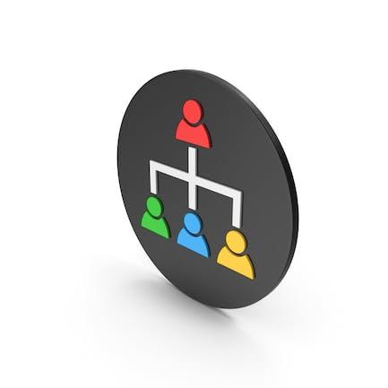 Hierarchical Organization Colored Icon