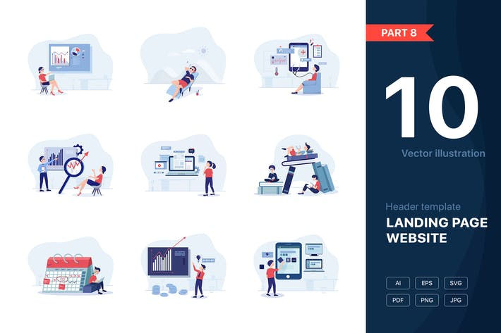 Thumbnail for [Part 8] Website illustrations set