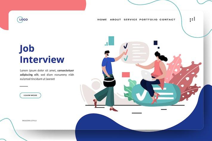 Thumbnail for Job Interview Illustration