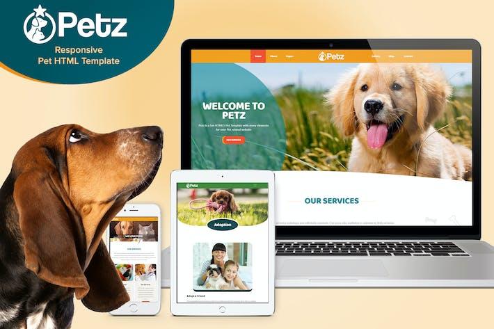 Thumbnail for Petz - Responsive HTML Template