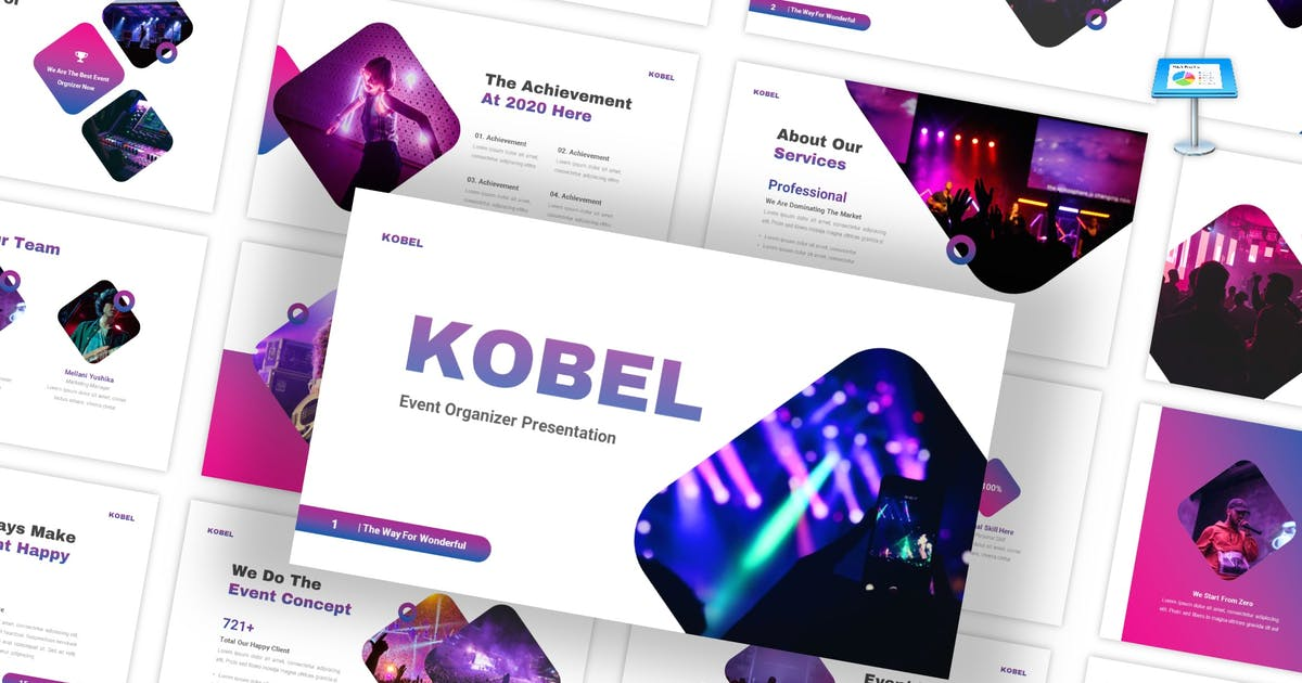 Download Kobel - Event Organizer Keynote Template by CocoTemplates