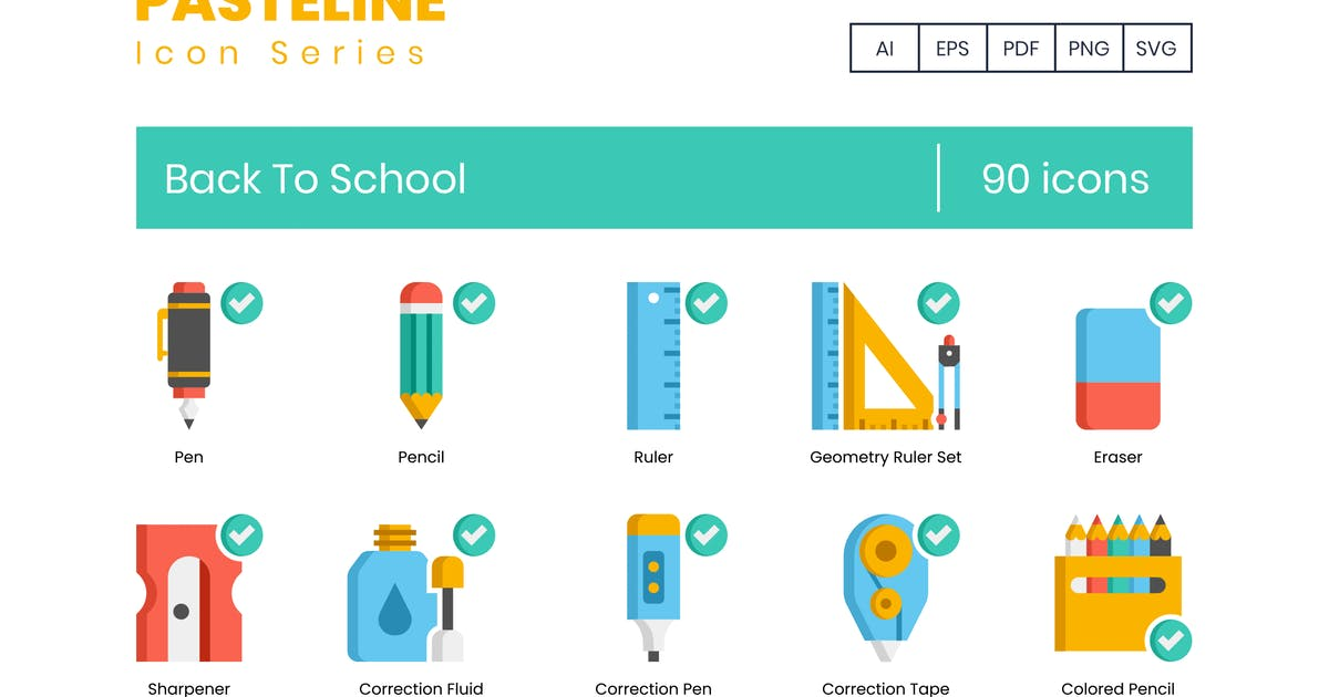 Download School Icons by Krafted