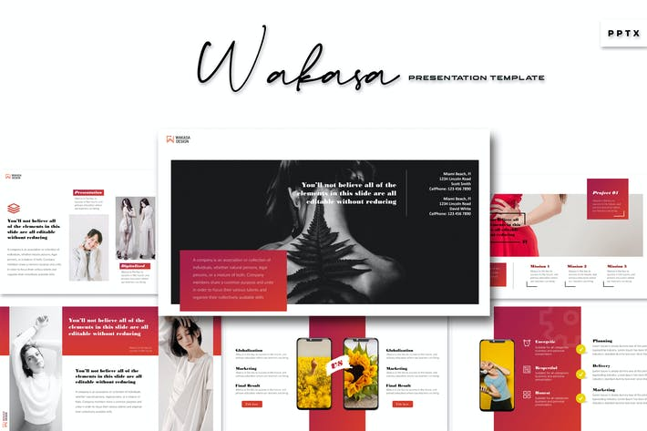 Thumbnail for Wakasa - Powerpoint Template