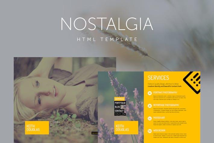 Thumbnail for Nostalgia - Responsive Minimal Portfolio Template